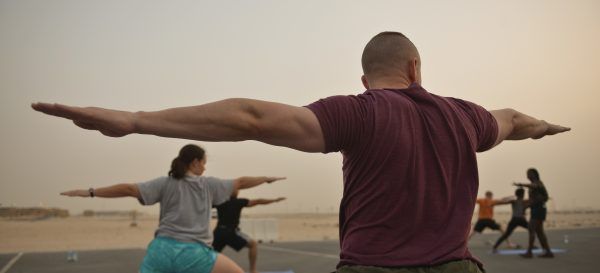 Warriors posed to break Yoga record at Al Udeid Air Base